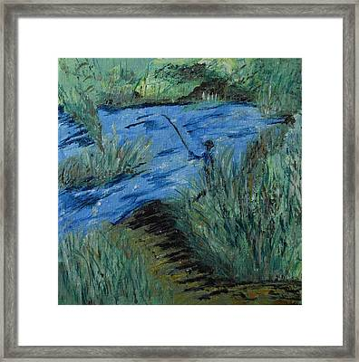 Fishing On The Dolores River Framed Print
