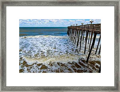 Fishing Pier 2 Framed Print by Lanjee Chee
