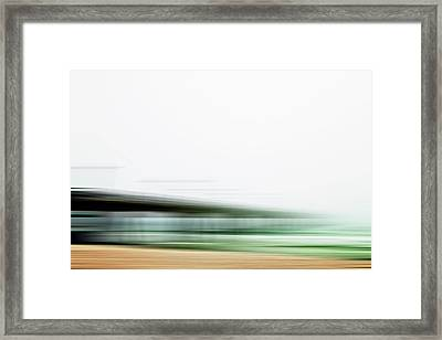 Fishing Pier Abstract Framed Print