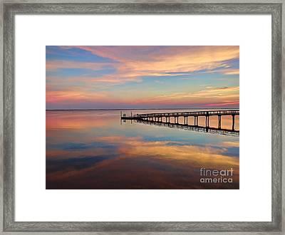 Fishing Pier Duck Obx Framed Print by Jeff Breiman