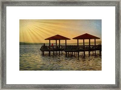 Fishing Pier Framed Print