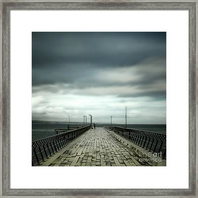 Framed Print featuring the photograph Fishing Pier by Perry Webster