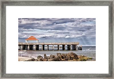 Fishing Pier Framed Print by Robert Anastasi