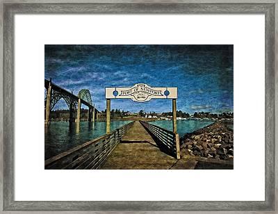 Fishing Pier Framed Print