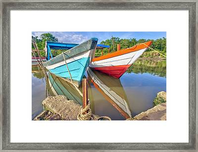 Fishing Pirogues  Framed Print