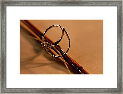 Fishing Pole Ring Framed Print by Wilma  Birdwell