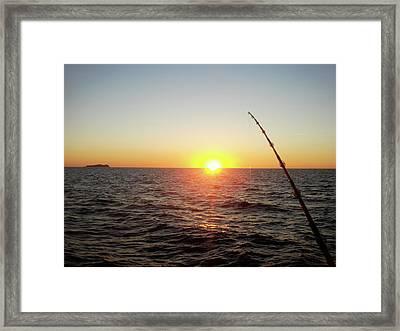 Fishing Pole Taken On 35mm Film Framed Print