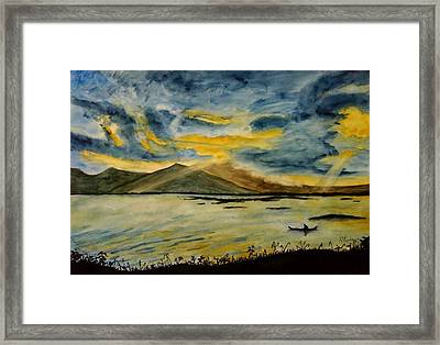 Fishing Framed Print by Ramon Martinez sanmarti