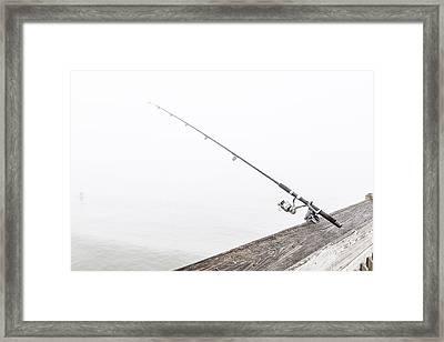 Fishing Rod Folly Beach Sc Framed Print by John McGraw