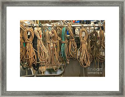 Fishing Ropes And Knots Framed Print by Adam Jewell