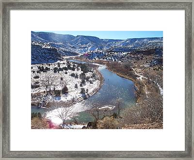 Fishing The Chama Framed Print