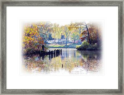 Fishing The Magothy Framed Print by Brian Wallace