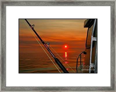 Fishing The Midnight Sun Framed Print by Rick  Monyahan