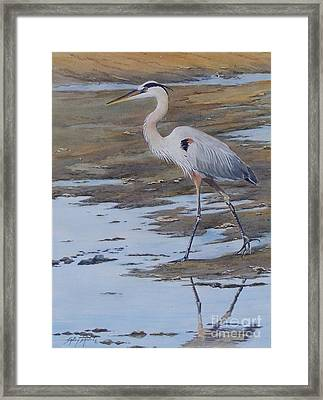 Fishing The Mud Flats...sold  Framed Print
