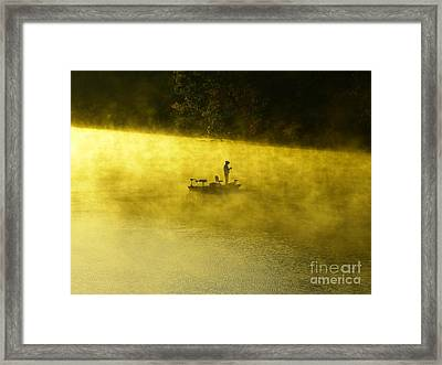 Fishing The Prettyboy Reservoir Framed Print