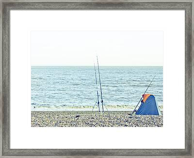 Fishing Framed Print by Tom Gowanlock