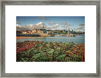 Fishing Traps In Cascais Framed Print