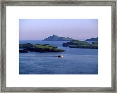 Fishing Trawler, Blasket Islands, Co Framed Print
