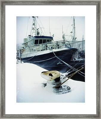 Fishing Trawler, Howth Harbour, Co Framed Print by The Irish Image Collection