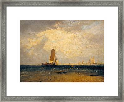 Fishing Upon The Blythe-sand, Tide Setting In Framed Print
