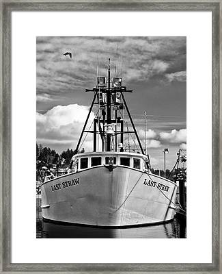 Fishing Vessel Last Straw Framed Print