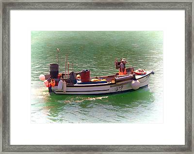 Framed Print featuring the digital art Fishing Vessel  by Paul Gulliver