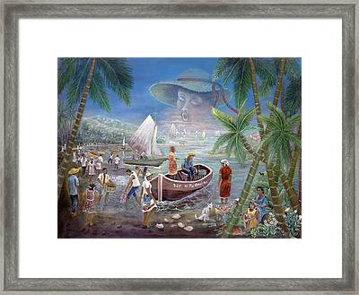 Fishing Village Framed Print by Emmanuel Dostaly