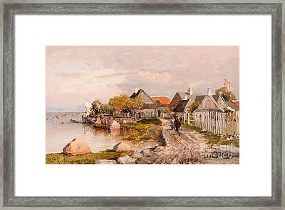 Fishing Village In Haapsalu Framed Print by MotionAge Designs