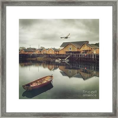 Fishing Village Framed Print by Mariko Klug
