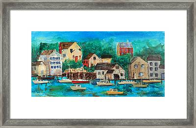 Fishing Village Framed Print by Theresa Morse