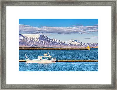 Fishing Framed Print by Wade Courtney