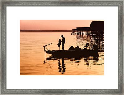 Fishing With Daddy Framed Print