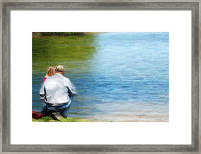 Fishing With Grandpa Framed Print