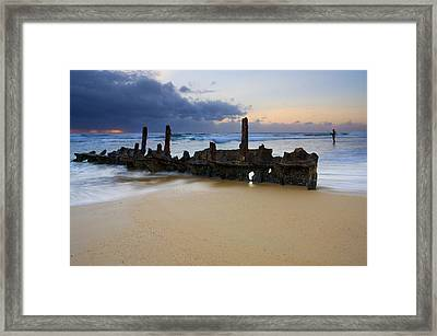 Fishing With History Framed Print by Mike  Dawson