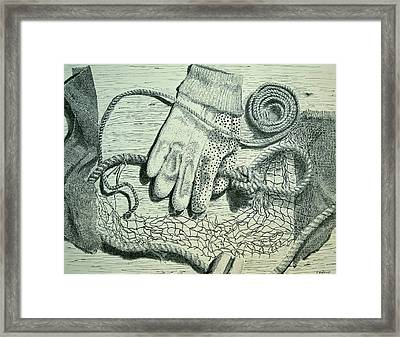 Fishing Work Framed Print by Peter E Malbrough