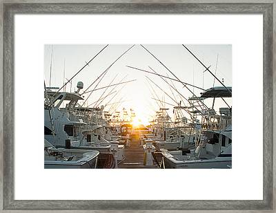 Fishing Yachts Framed Print
