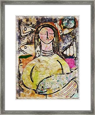 Framed Print featuring the digital art Fishmonger's Wife by Alexis Rotella
