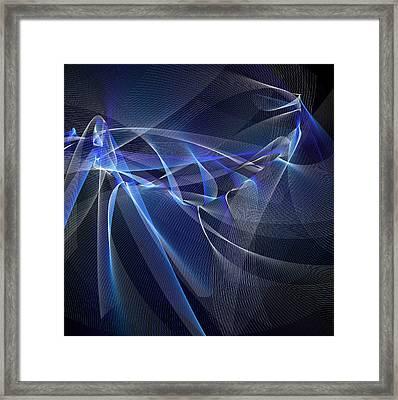 Fishnet Blue Framed Print
