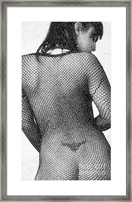 Fishnet Body By Mb Framed Print
