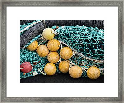 Fishnet Floats Framed Print by Carol Leigh