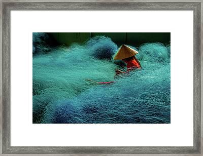 Fishnet Framed Print by Okan YILMAZ