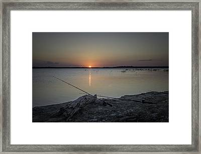 Fishing Poles Framed Print by Leticia Latocki
