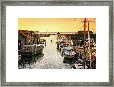 Framed Print featuring the photograph Fishtown by Alexey Stiop