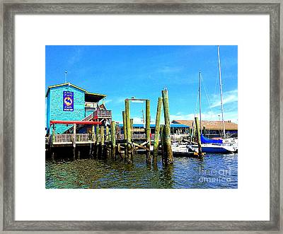 Fishy Fishy Waterside Framed Print