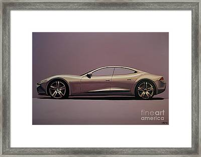 Fisker Karma 2012 Painting Framed Print by Paul Meijering