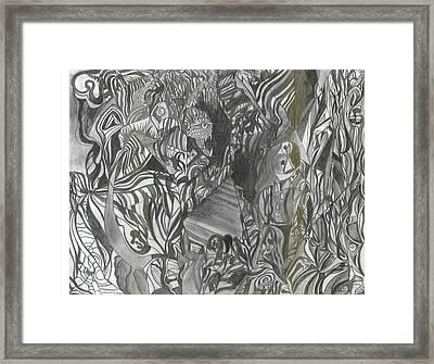 Fist Doodle Framed Print by Joseph  Arico
