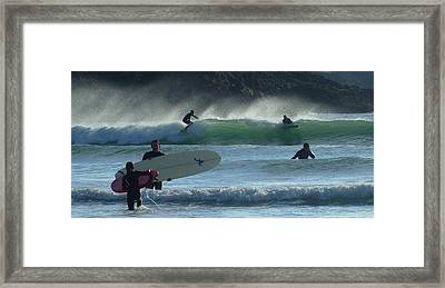Fistral Beach Newquay Framed Print by Jane Stanley