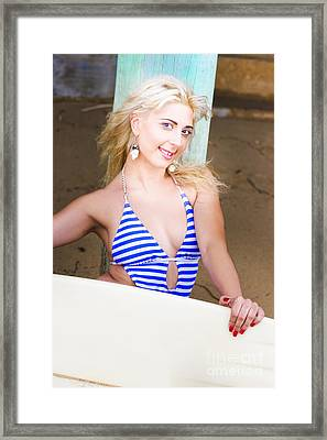 Fit And Active Woman Framed Print by Jorgo Photography - Wall Art Gallery