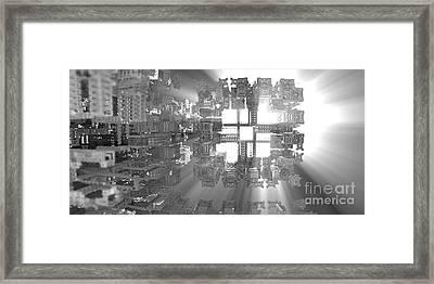 Fitting In Framed Print by Jon Munson II