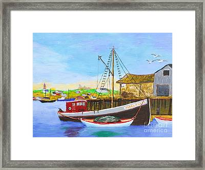 Fitting Out For Seining Framed Print